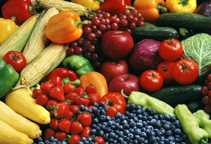 fresh fruit and vegies