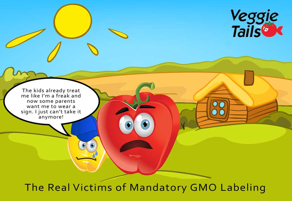 GMO veggies have feelings too.