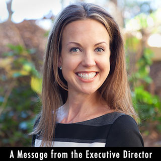 A message from the Executive Director